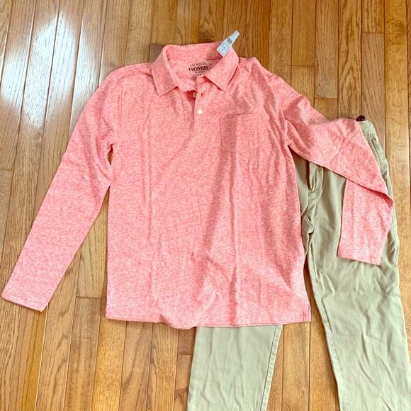 Boys JCrew Shirt and Khakis